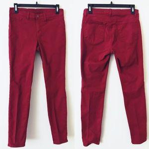 J BRAND Skinny Leg Jeans in Black Cherry